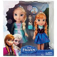 amazon disney frozen deluxe toddler elsa anna dolls