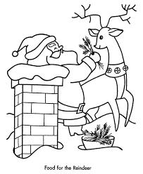 santa reindeer coloring pages coloring