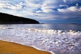 where is the black sand beach sand beach acadia national park maine