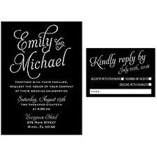 wedding invitations black and white 100 wedding invitations black white style