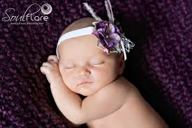 headband newborn purple baby flower headband newborn headband infant headband