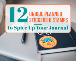 12 unique planner stickers and stamps to spice up your journal