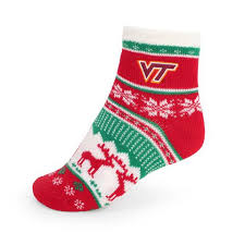 fuzzy christmas socks virginia tech shoes socks category socks cus emporium