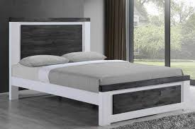 Rustic Wooden Beds Chelford White U0026 Ash Grey Rustic Wooden Bed Frame Double King