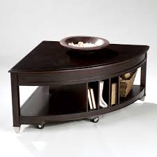 pie shaped lift top coffee table magnussen home darien pie shaped cocktail table with lifting top