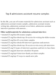 Recruiter Sample Resume Admissions Assistant Cover Letter Images Cover Letter Ideas