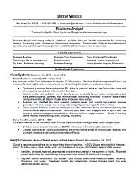 Sample Business Analyst Resume by Business Business Analyst Resume