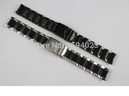 black stainless bracelet images 19mm t095417a watchband watch parts male strip solid black jpg