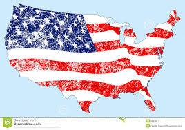 Unitrd States Map by United States Map Flag With Grunge Royalty Free Stock Photography