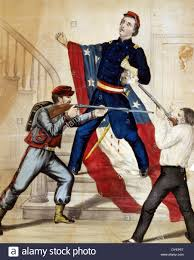 History Of Rebel Flag Death Of Colonel Ellsworth After Hauling Down The Rebel Flag At