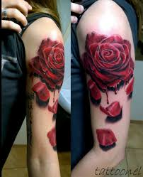 red rose tattoo by karlinoboy on deviantart