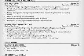 bus operator resume sample reentrycorps