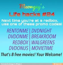 a list of the latest free redbox promo codes you can use at the