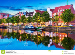 Lubeck Germany Map by Lubeck Germany Stock Photo Image 45988863