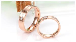 wedding bands for couples matching gold tone tungsten wedding rings for him and