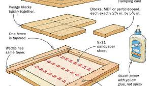 offcuts create a planing cradle for tapered legs finewoodworking
