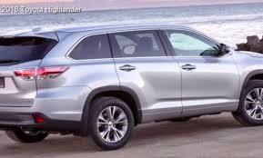 Toyota Highlander Interior Dimensions 2018 Toyota Highlander Redesign Specs Changes Interior