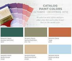 paint colors from our october december 2016 catalog how to decorate