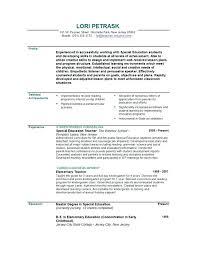 Kids Resume Sample Kids Resume Resume Objective Sample Job Make Teacher