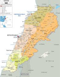Political Map Of Asia Maps Of Lebanon Detailed Map Of Lebanon In English Tourist Map