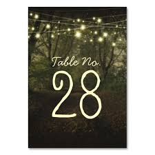 string lights tree path table number card zazzle