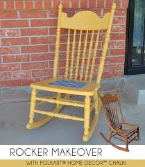 rocking chair makeover with folkart home decor chalk dream a