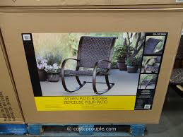 Agio Patio Furniture Costco - agio international aluminum woven rocker