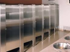 Stainless Steel Bathroom Partitions by Privacy Options Hadrian Manufacturing Inc Toilet Partitions And