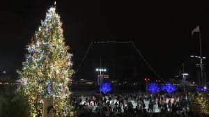 facts about the tree lighting at the blue cross