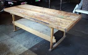 large butcher block top work table u2013 salvage one