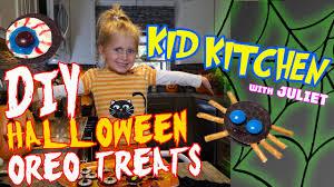 diy halloween oreo treats u0027kid kitchen u0027 with juliet youtube