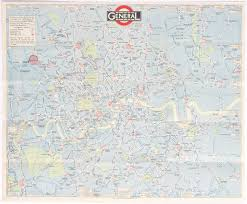 Transport Map London Transport Map Of The London General Bus Routes April 1924
