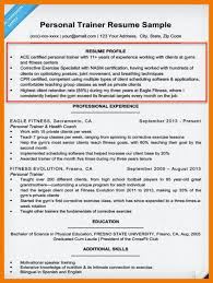 personal training resume examples example of personal resume