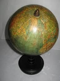 vintage terrestrial globe 1950 home decor collectable