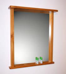 spiegel ablage bad wandspiegel bad flur spiegel mit rahmen und ablage massiv holz