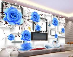 custom any size blue rose swan 3d tv wall mural 3d wallpaper 3d custom any size blue rose swan 3d tv wall mural 3d wallpaper 3d wall papers for tv backdrop wallpapers widescreen wallpapers widescreen high resolution from