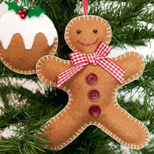 Decorate Your Own Christmas Tree Felt by Make Your Own Felt Gingerbread Man Christmas Tree Decoration