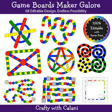 design board maker build a board game clipart set 100 editable board game makers