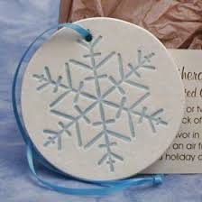snowflake wedding favors ornament five cedars