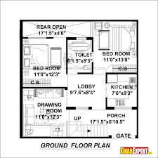 sample floor plans for houses house plan for 30 feet by 30 feet plot plot size 100 square yards