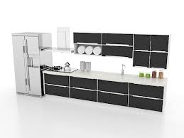 black kitchen design straight line kitchen designs black kitchen cabinets 3d model 3ds