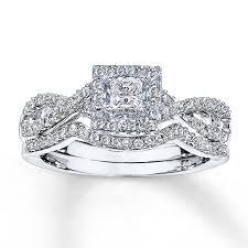 jared jewelers locations kay diamond bridal set 5 8 ct tw princess cut 14k white gold
