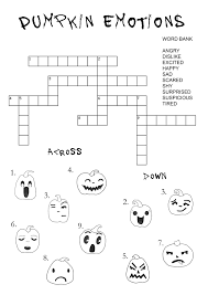 Printable Halloween Crossword Puzzles by Emotions Articulation360