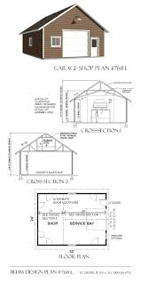1 car oversized suv garage plans by behm 768 l 24 u0027 x 32 u0027behm