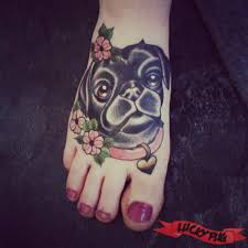 foot pug tattoo photo gallery pug tattoos pictures