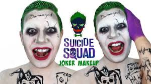 squad jared leto joker makeup tutorial youtube