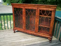 Vintage Bookcase With Glass Doors Sold Hshire Antique Furniture