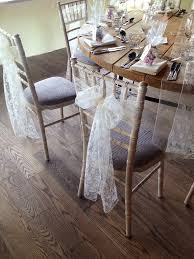 bows for chairs lace sash hire at newton and high house farm in