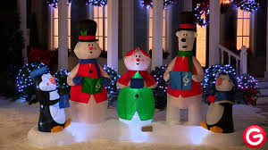 gemmy animated airblown inflatable christmas carolers youtube