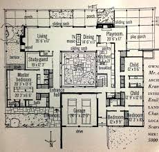 home plans with courtyard mid century modern floor plans pretentious design 1 mid century